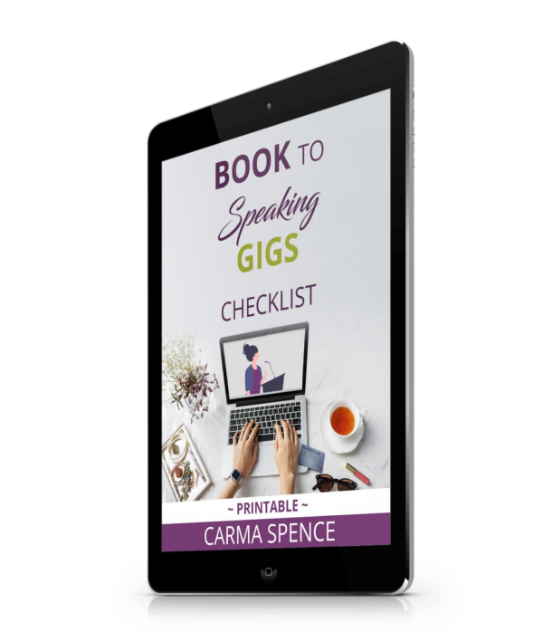 Book to Speaking Gigs Checklist Tablet